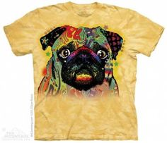 The Mountain-Shirts Hunde Mops - Colorful Pug, Size S