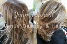 Take sleepy, tired looking hair, add a relaxing treatment and finish with John colouring it and this is the result. John created this look by mixing a subtle base colour with Milk Shake Hair UK Sunlights.