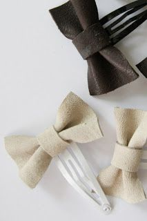 DIY Leather Bow Hair Accessory