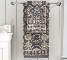 Indah Jaquard Towels | Pottery Barn