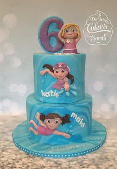 Swimming Party cake - Cake by De-licious Cakes by Sarah