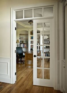 prehung french doors interior with transom - Google Search