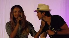 Kat Graham and Ian Somerhalder at Day 2 at Bloody Night Con 6 in Barcelona,  Spain (5/22/16)