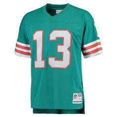 Mens Miami Dolphins Dan Marino Mitchell & Ness Aqua Retired Player Vintage Replica Jersey