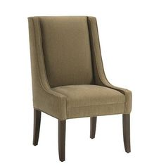 Lazar Max Arm Chair Upholstery: Blue Cypress, Finish: Espresso