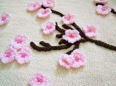 cherry blossom knit fabric - Google Search