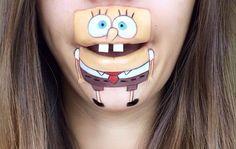 Une maquilleuse de talent transforme ses lèvres en personnages de cartoons