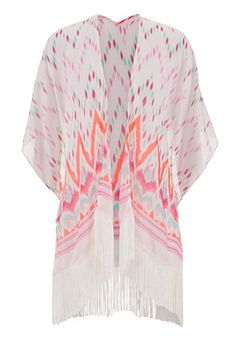 chevron dot patterned scarf wrap (original price, $20) available at #Maurices wear with white tank, coral shorts, teardrop necklace