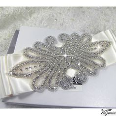 Rhinestone applique beaded applique crystal by DIYBrideBoutique, $19.99 AWESOME applique store on etsy with good prices