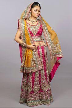 Rani Pink Bridal Lehenga choli - Secret Wardrobe