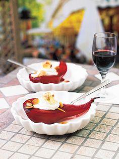 Cassispäärynät ja Roquefort-vaahto   K-Ruoka #hedelmät #jälkiruoka