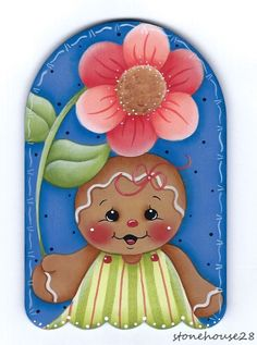 HP GINGERBREAD with Flower FRIDGE MAGNET in Crafts, Handcrafted & Finished Pieces, Handpainted Items | eBay