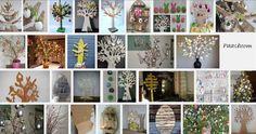 Paastakken, paasboom en paasvaas zijn dé paasversieringen. Een paasboom was vroeger traditie. Aan een stok werden vier dwarslatten