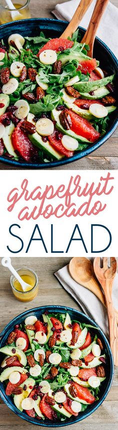 Grapefruit Avocado Salad -- perfect the holidays!