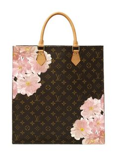 Hand Painted Customized Monogram Canvas Sac Plat NM from Express Yourself: Emotional Baggage x Rewind Vintage on Gilt
