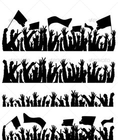 Buy Arms up by Seyyahil on GraphicRiver. Vector illustration silhouettes of arms raised at a concert or stadium. JPG and PNG are 300 DPI. Green Background Video, Banner Background Images, Concert Crowd, Concept Art World, People Icon, Ecommerce Logo, Silhouette S, Logo Images, Mandala Art