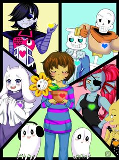 7ff71ca019bd Group Art video game Undertale Print   DISCOUNT SLIGHTLY DAMAGED  . Hot Game  Undertale Children Book Bag Cartoon School ...