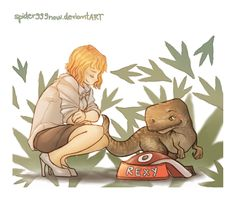 Jurassic World - Claire & Rexy Too bad Rexy is from the fort movie...