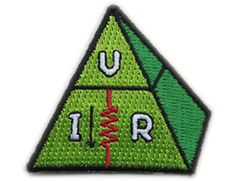 Ohms law, VIR - Skill badge, iron-on patch