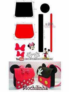 Best 11 It might be a cute nursing bag – Page 386113368044483325 – SkillOfKing. Mickey Mouse Birthday, Mickey Minnie Mouse, Disney Diy, Foam Crafts, Diy And Crafts, Paper Purse, Disney Ornaments, Diy Handbag, Mickey Mouse Clubhouse
