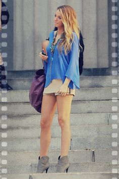 blake lively style | i would change the bottoms to jeans