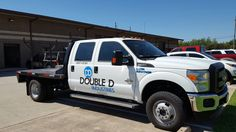 Custom vehicle graphics are a great alternative to the more expensive full vehicle wraps.  If you are required to have license or DOT numbers we can make them with your brand colors and fonts for that extra professional touch.