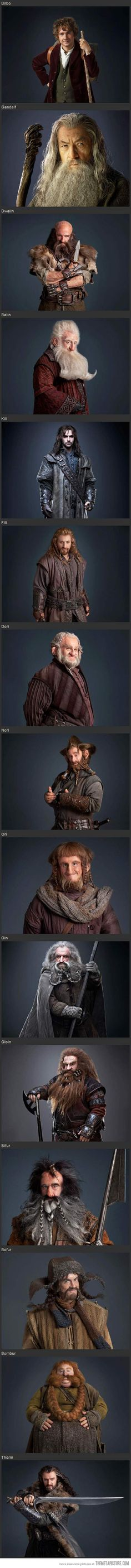 The Hobbit; Bofur has an axe in his forehead.