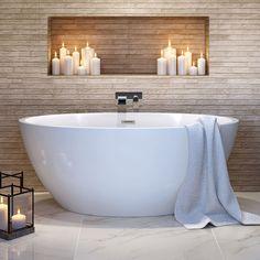 Bathroom decor, Bathroom decoration, Bathroom DIY and Crafts, Bathroom Interior design Large Bathrooms, Dream Bathrooms, Amazing Bathrooms, Master Bathrooms, Small Bathroom With Bath, Cottage Bathrooms, Large Bathtubs, Luxury Bathrooms, Modern Bathtub