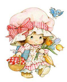 les meli melo pour vos creas - Page 4 Illustration Mignonne, Cute Illustration, Cute Images, Cute Pictures, Vintage Images, Vintage Art, Strawberry Shortcake Characters, Art Mignon, Cute Clipart