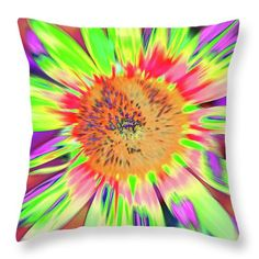 Sunflowers Throw Pillow featuring the photograph Sunblown by Cris Fulton