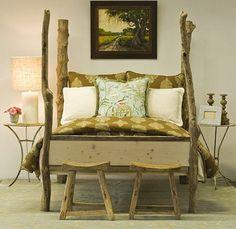 Ideas decorativas y útles para hacer con troncos de madera.
