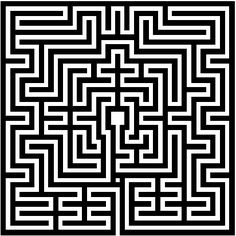 Is your path a maze or a labyrinth? A maze has dead ends and you must retrace and try to find the path. A labyrinth has an unbroken path to the center of your life. Experience Carmel's Labyrinth any time, 24 hours. Art Concret, Labyrinth Maze, Labyrinth Garden, Maze Design, Maze Puzzles, E Mc2, The St, Op Art, Sacred Geometry