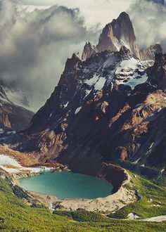 South America 😍 Mount Fitz Roy and Laguna Torre, Los Glaciares National Park, Patagonia, Argentina Places Around The World, Oh The Places You'll Go, Places To Visit, Around The Worlds, Beautiful Places In The World, Travel Around The World, Magic Places, Future Travel, Belle Photo