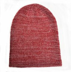 Fisherman Rib Beanie Maroon White Mixed Long Cuffable Warm Hat    Price: $9.99 & FREE Shipping on orders over $35.