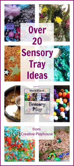 Loads of sensory tray ideas from Creative Playhouse