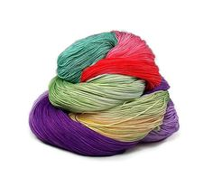 300 Yards Hand Dyed Cotton Crochet Thread Size 10 3 Ply Specialty Thread Purple Red Sea Foam Green Yellow t Fine Cotton Yarn