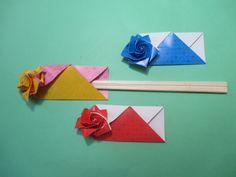 バラの箸袋おりがみ 折り方動画 - 創作折り紙の折り方・・・動画