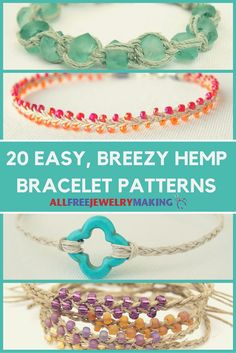 Hemp bracelets are trendy, cute, and lots of fun to make.