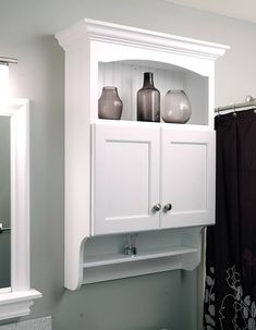 Small bathroom storage cabinet above toilet 64 Super ideas Small Bathroom Shelves, Bathroom Wall Storage, Bathroom Cupboards, Bathroom Plumbing, Cabinet Above Toilet, Diy Bathroom Remodel, Bathroom Ideas, Bathroom Showers, Bathroom Renovations