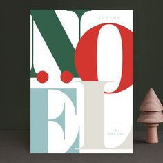 oversized noel - Holiday Cards in Festive by Angela Garrick. Christmas Graphic Design, Christmas Campaign, Christmas Cards, Holiday Photo Cards, Christmas Graphics, Christmas Poster, Christmas Drawing, Design Graphique, Graphic Design Illustration