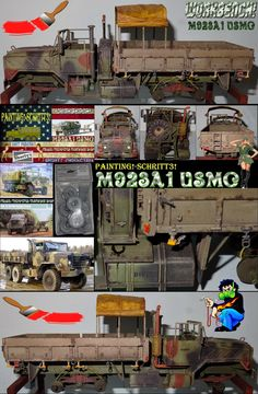 Shorty-Production: Workbench-M923A1 USMC-Painting!-Schritt3!