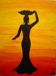 African Art Paintings, African Artwork, Afrique Art, Art Painting Gallery, Silhouette Painting, Art Drawings For Kids, Mural Art, Tribal Art, Lovers Art