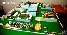 Lego model of YesVideo's newly designed office space.