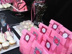 Hot Pink and Zebra Print Birthday Party Ideas | Photo 1 of 12 | Catch My Party