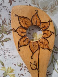 Woodburned wooden spoons