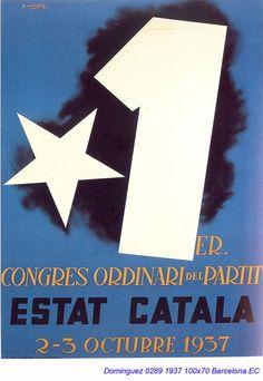Spain - 1937. - GC - poster - autor: Jose Dominguez Bermejo Wwii, Spanish, Letters, Barcelona, Collections, War, Political Posters, Vintage Posters, Author