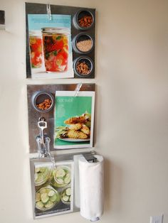 Transform empty kitchen wall space into functional, modern display and storage space with these easy-to-create magnetic accessories.