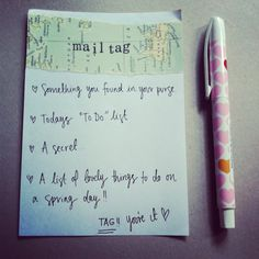 paperedthoughts: Mail Tag #two