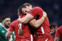 14/3/15 Wales 23 : 16 Ireland.Sam Warburton and Leigh halfpenny