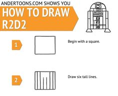 How To Draw A Cartoon R2D2